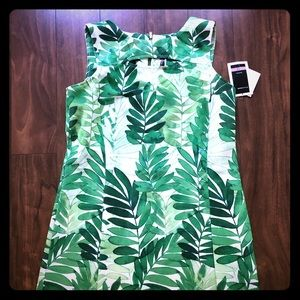 New with tags size 12 Green and White dress.
